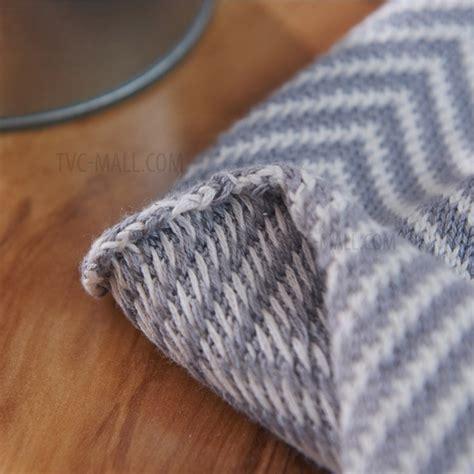 zigzag knitting pattern blanket zig zag pattern cotton knitting warm blanket with tassels