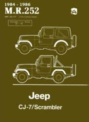 Free Download Jeep Scrambler Factory Service Manual Hubget