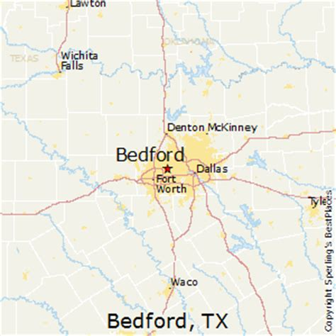 bedford texas map best places to live in bedford texas