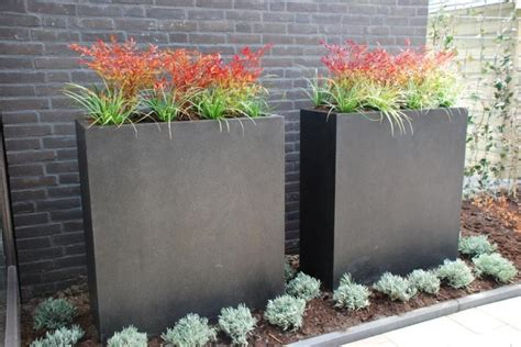 tall narrow planters garden design planters window