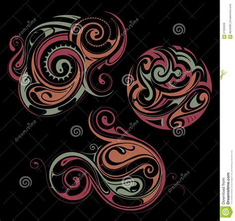 maori style ornament cartoon vector cartoondealer com