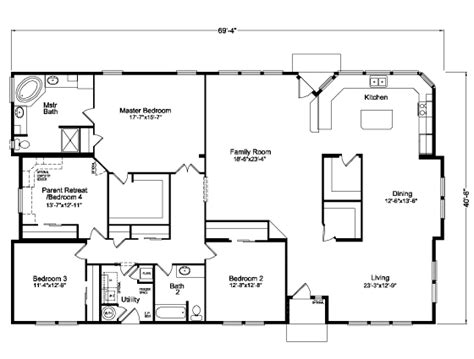 the mt ashland 5g42684d manufactured home floor plan or