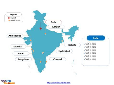 India Map Ppt Template Best Template Idea India Map Ppt Template