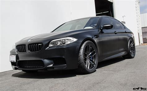 matte black bmw matte black bmw f10 m5 gets vorsteiner flow forged wheels