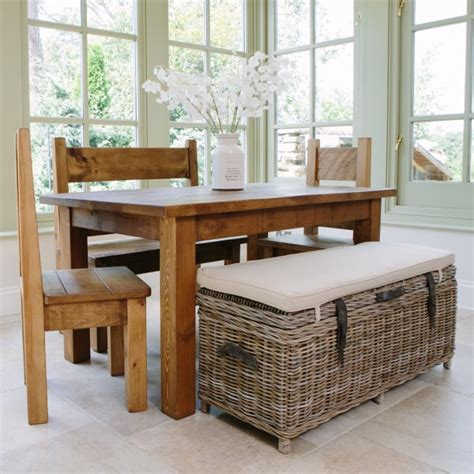 storage dining bench buy rustic rattan dining table bench rustic wood