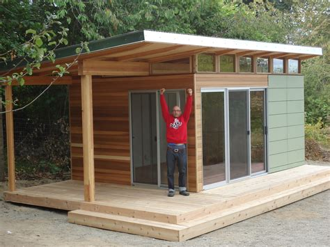 building a backyard office this vashon island client works from home at his modern