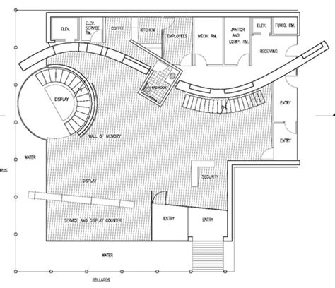 jewelry shop floor plan vernelle a a noel assoc aia architect