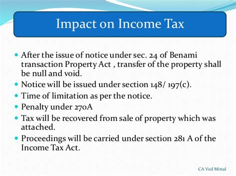 section 16 of income tax act benami property transactions act 1988