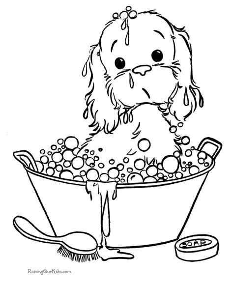 coloring pages of puppies and kittens coloring home