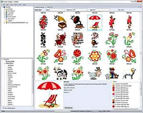 embroidery design catalog software floriani my design album embroidery software for