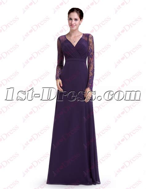 Sleeve Lace Evening Gown vintage purple lace sleeves evening gown 1st dress
