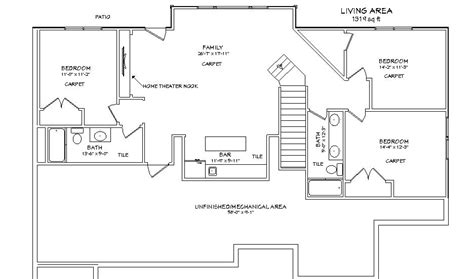 basement design plans lot 13 level plan kansas home