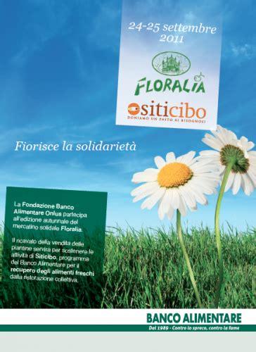 mercatino alimentare volantino floralia 2011 banco alimentare della lombardia partecipa