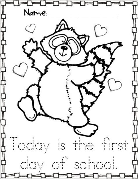 Raccoon Coloring Pages Kindergarten | kissing hand activities free chester the raccoon coloring