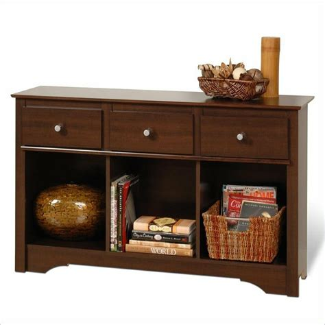 Storage Table For Living Room - 3 drawer console sofa table modern storage home furniture