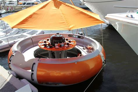 Donut Boat grill and chill with the bbq donut