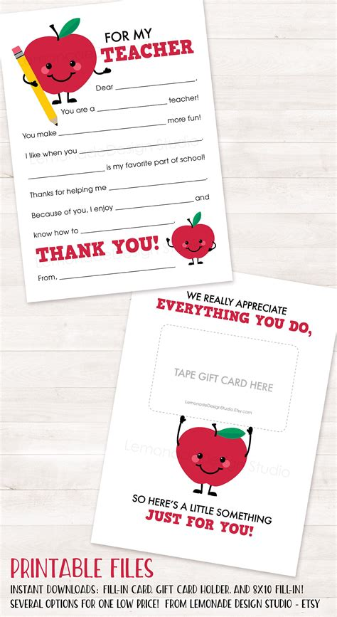 printable thank you cards for teachers from parents printable teacher appreciation card teacher thank you card