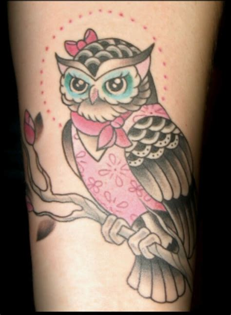 girly owl tattoo design cute girlie owl tattoo tattoos pinterest