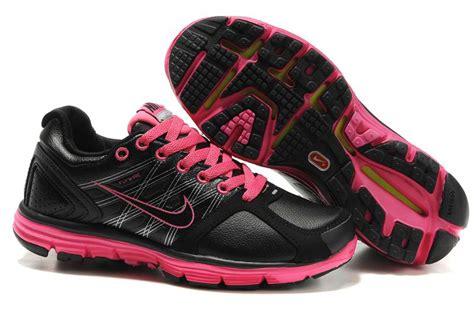 nike lunarglide 2 leather black pink nike running shoes