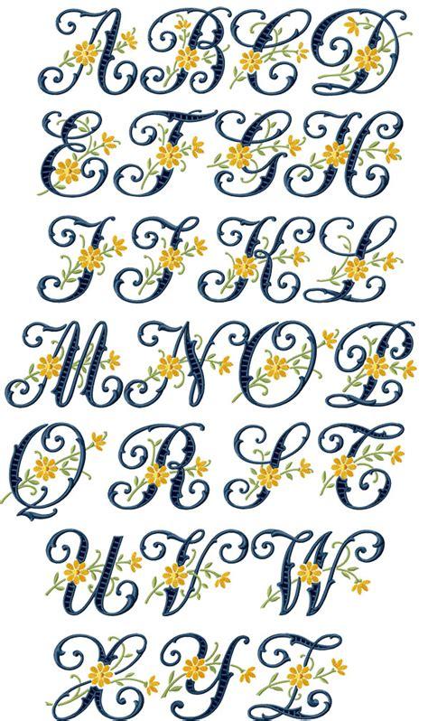 floral pattern font floral cutwork alphabet