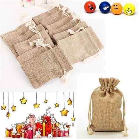 Jute Bag Decoration by Jute Bag Drawstring Burlap Bags Gift Bags For