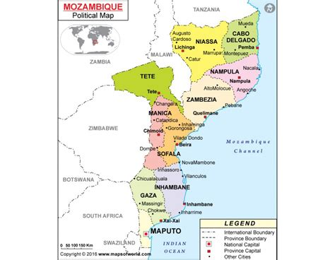 political map of mozambique buy political map of mozambique