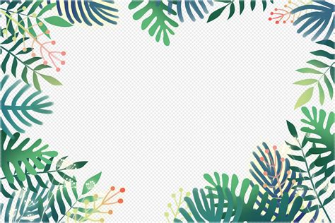 small fresh plant border png imagepicture
