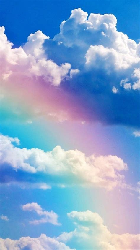 wallpaper iphone sky rainbow and blue sky wallpaper free iphone wallpapers