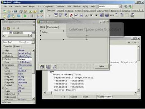 tutorial delphi bahasa indonesia pdf video tutorial delphi bahasa indonesia membuat billing