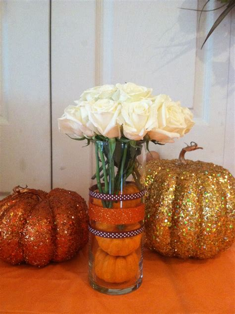 Lil Pumpkin Baby Shower Centerpieces Tall Vases With Pumpkin Baby Shower Centerpieces
