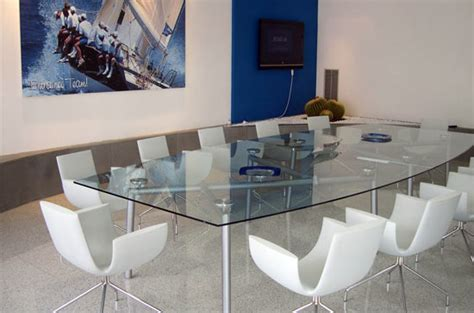 boat shaped glass table top isotta boardroom tables conference room tables