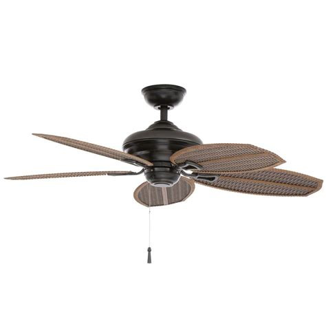 hton bay palm beach fan hton bay palm beach ii 48 in outdoor natural iron