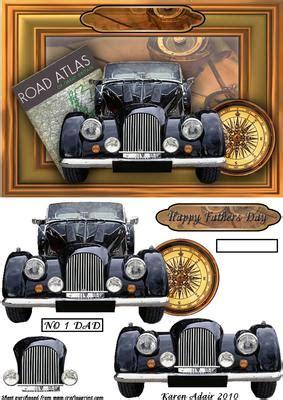 vintage car  step  step cup craftsuprint