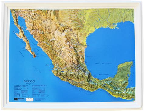 Map Wall Stickers buy mexico relief map flagline