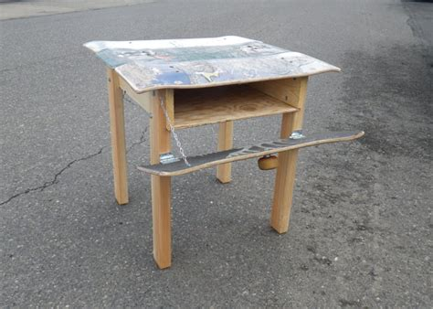 Skateboard Table by Image Gallery Skateboard Table