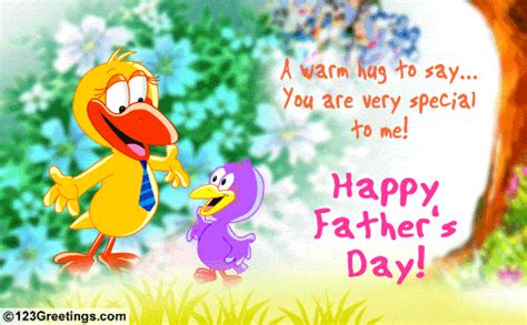fathers day greetings to a friend a warm hug free near dear ones ecards greeting cards