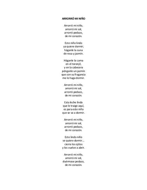 letra cancion de cuna canciones de cuna 0 a 3 a 241 os