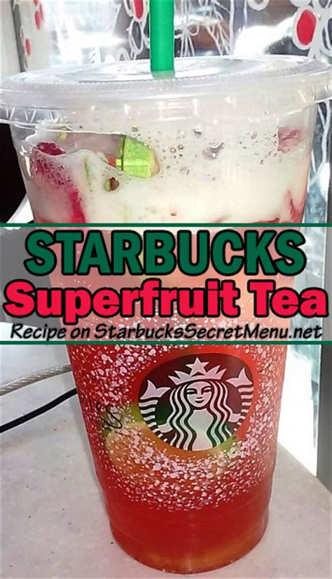 Detox Teas At Starbucks by Starbucks Superfruit Iced Tea Starbucks Secret Menu