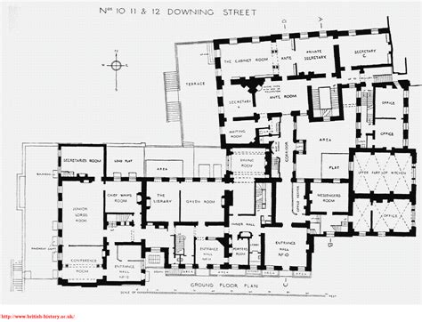10 downing st ground floor plan published in