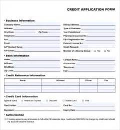 Credit Application Form Template Free Uk Credit Application Forms 9 Documents Free In Pdf Word
