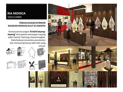 desain interior s2 perancangan interior museum wayang kulit di jakarta