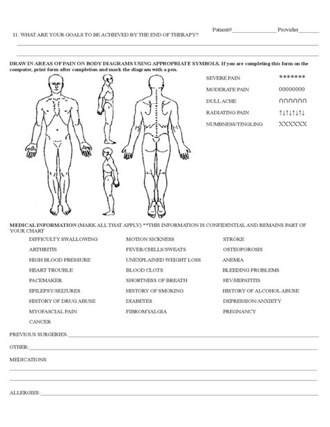 physical therapy evaluation form sle free download