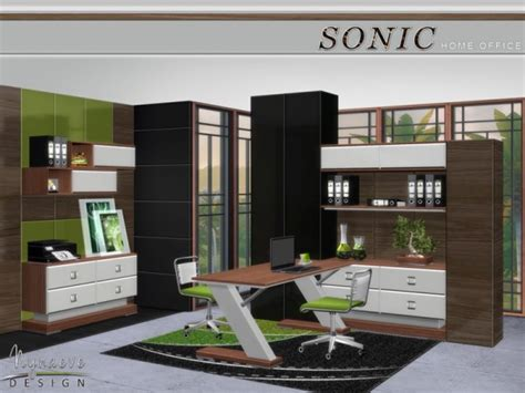 the sims resource sonic home office by nynaevedesign