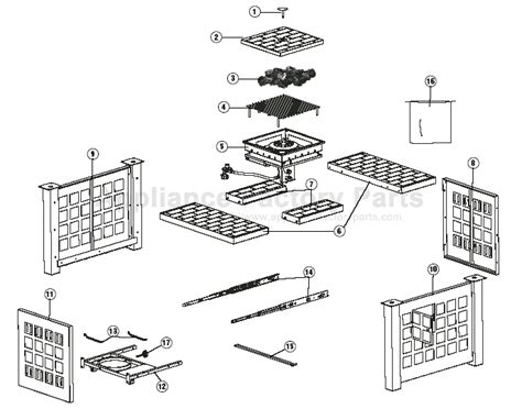 Charmglow Fireplace Parts by Charmglow 832 7000 S Bbq Parts