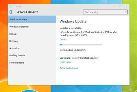 microsoft rolls out kb3116908 cumulative update for new cumulative update now rolling out to windows 10