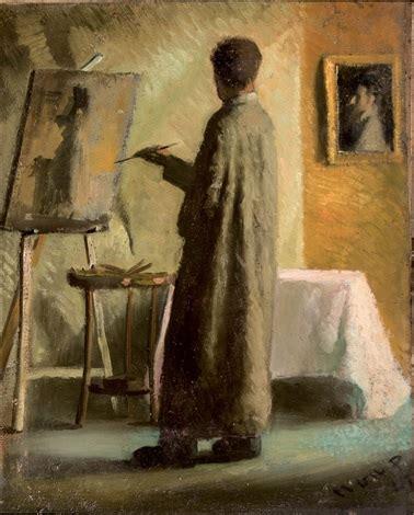 el pintor en su estudio by manuel gil perez on artnet