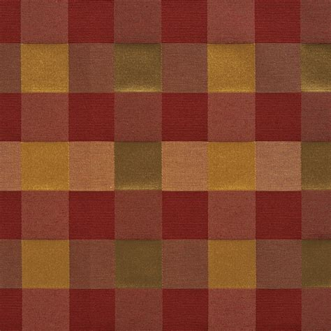 green check upholstery fabric red peach and green large 4 color check silk look