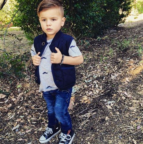 Pendek Boy 5 In 1 mustache and quilted vest fashion boy fashion kid style boy