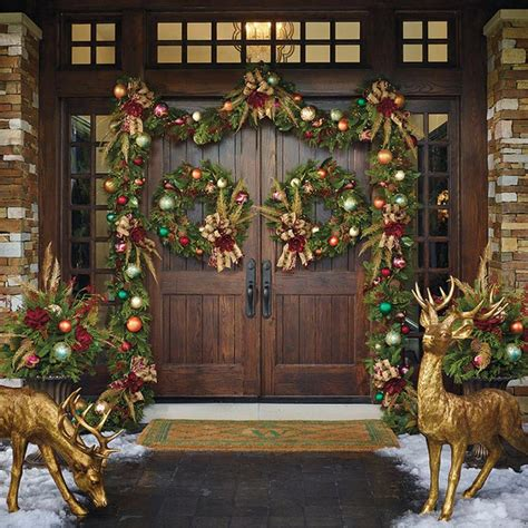Christmas Front Door Decorations Quiet Corner Front Door Decorating