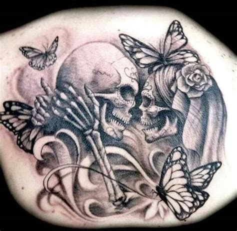 skull tattoo for couples 15 awesome and easy skull tattoo designs with pictures